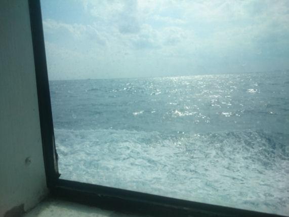 フェリーから見た海