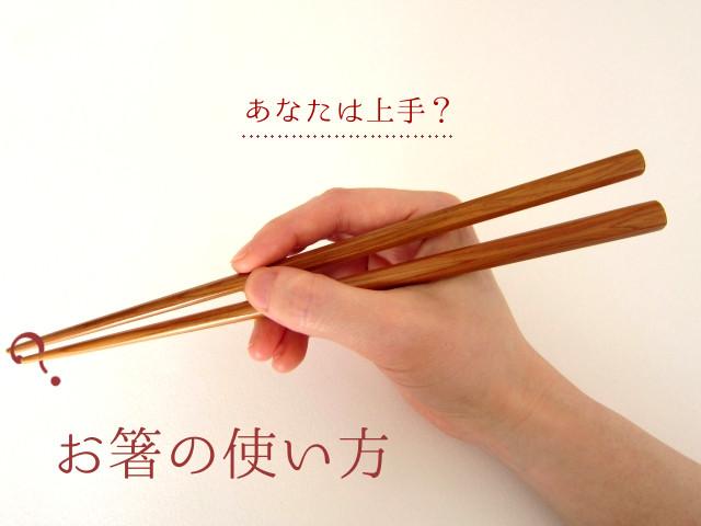 箸がうまく使えないのは割りとマジで直したいと思う
