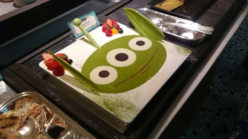 リトルグリーンメンのケーキ